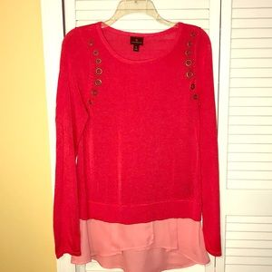 Beautiful Coral Blouse.